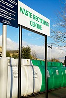 Europe, UK, England, Bath, recycling depot