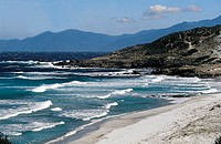 France, Corsica, Balagne, beach of the Agriates