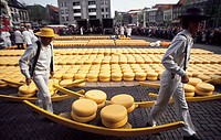The Netherlands, Alkmaar, cheese fair