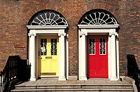 Ireland, Dublin, georgian doors