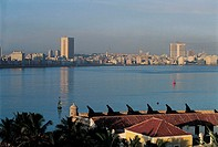 La Havana, skyline of the new city from El Moro