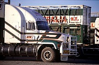 Australia, Adela'de, trucks on Darwin road