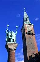 Denmark, Copenhagen, the City Hall tower