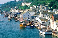 England, Cornwall, Looe, fishing village