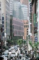 South Korea, Seoul, Myongdong district