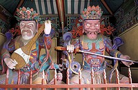 South Korea, temple of Kwanchoksa, guardians of the cardinal points