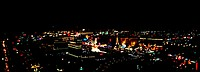 High angle view of a city lit up at night, The Strip, Las Vegas, Nevada, USA