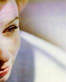 Closeup of a woman. Beauty.