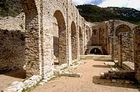 Sant Llorenç de Sous monastery. Albanyà, Alt Empordà, Girona. Catalunya, Spain.