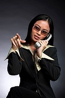 Businesswoman talking on the phone.