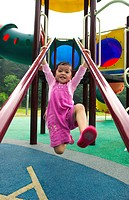 Girl having fun in the playground