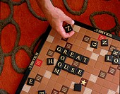 Close_up of a scrabble game