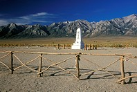 Japanese Monument & Sierras Manzanar WWII Internment Site near Lone Pine, CA