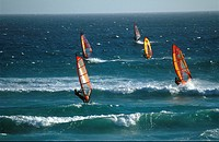 Wind Surfers, Port Elizabeth, Eastern Cape, South Africa