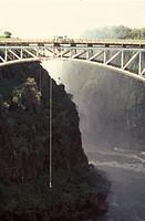 Bunjee Jumping, Railway Bridge, Victoria Falls, Zimbabwe