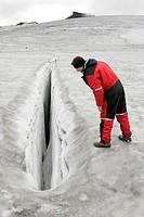 Crevasse,-Vatnajokull-Glacier,-Iceland