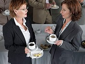 Office workers having a coffee break (thumbnail)