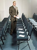 Businessman preparing for meeting