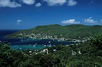 Bequia, Caribbean Islands, aerial view