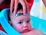 Baby with a fever (thumbnail)
