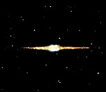 Near-infrared view of the Milky Way, the first image to show the distribution of stars within our Galaxy. The stars form a thin disc with a thicker ce...