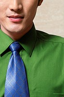 Close-up mid section of well-dressed businessman