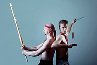Two men practicing martial art (thumbnail)