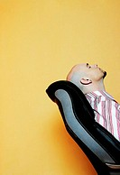 Businessman taking a nap