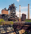 Metallurgical plant, now a museum and industrial park. Duisburg-Meiderich, Germany