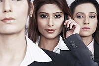 Close-up of three businesswomen (thumbnail)