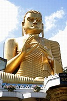 Golden statue in a temple