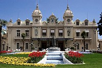 Monte Carlo Casino and gardens in Monaco, France