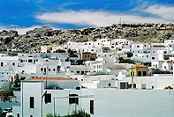 Panoramic picture of the town of Mykonos (thumbnail)
