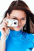 Woman taking pictures with her camera