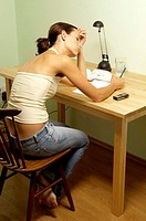 Woman doing assignment