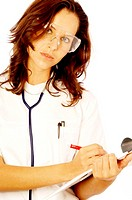 Female doctor on duty