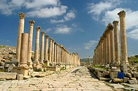 Columns lane, archaeological site of Jerash. Jordan