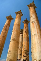 Temple of Artemis, archaeological site of Jerash. Jordan