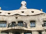 Milà House (aka La Pedrera 1906-1912 by Gaudí). Barcelona. Spain