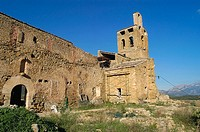 St. Peter's collegiate church, Ager. La Noguera, Lleida province, Catalonia, Spain