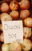 Onions for sale at market