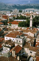 Looking North over Split from the top of the bell tower at Diocletian's Palace. Split, Croatia