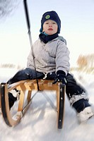 boy on a sled