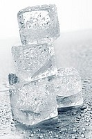 Ice cubes in a pile