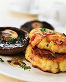 Portobello mushrooms with savoury scones