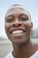 Man smiling, portrait, close-up