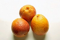 Three blood oranges