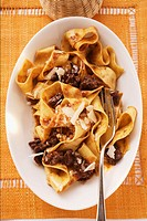 Pappardelle with meat ragout with Barolo & Parmesan shavings