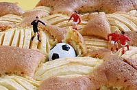 Ball lost - in apple cake