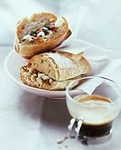 Panini alla napoletana (ham and mozzarella sandwich) (1)